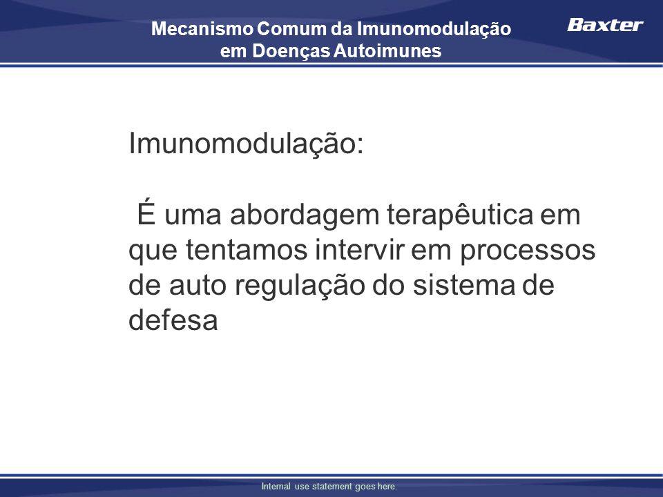 Mecanismo Comum da Imunomodulação