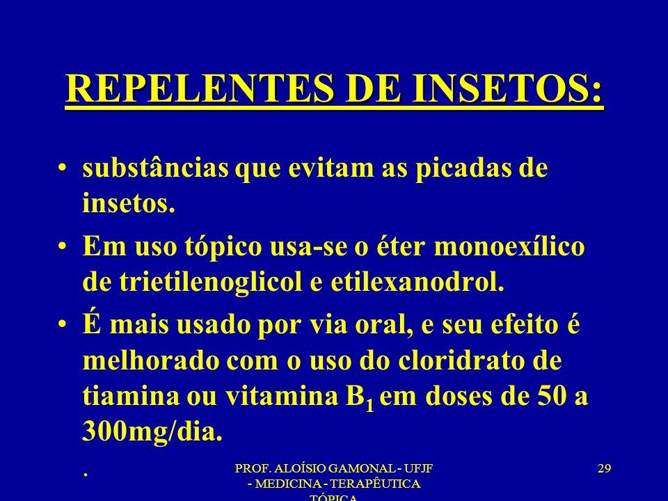 REPELENTES DE INSETOS: