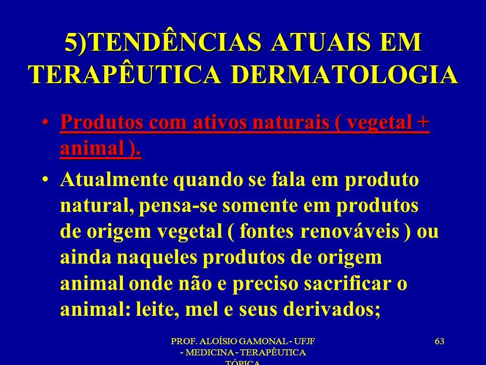 5)TENDÊNCIAS ATUAIS EM TERAPÊUTICA DERMATOLOGIA