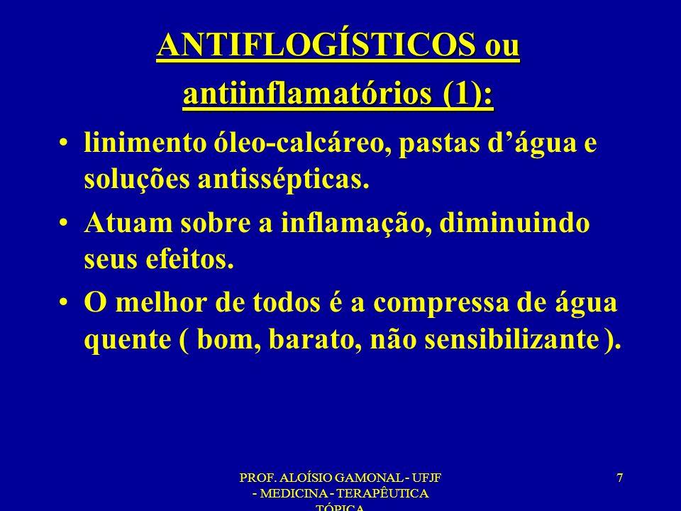 ANTIFLOGÍSTICOS ou antiinflamatórios (1):