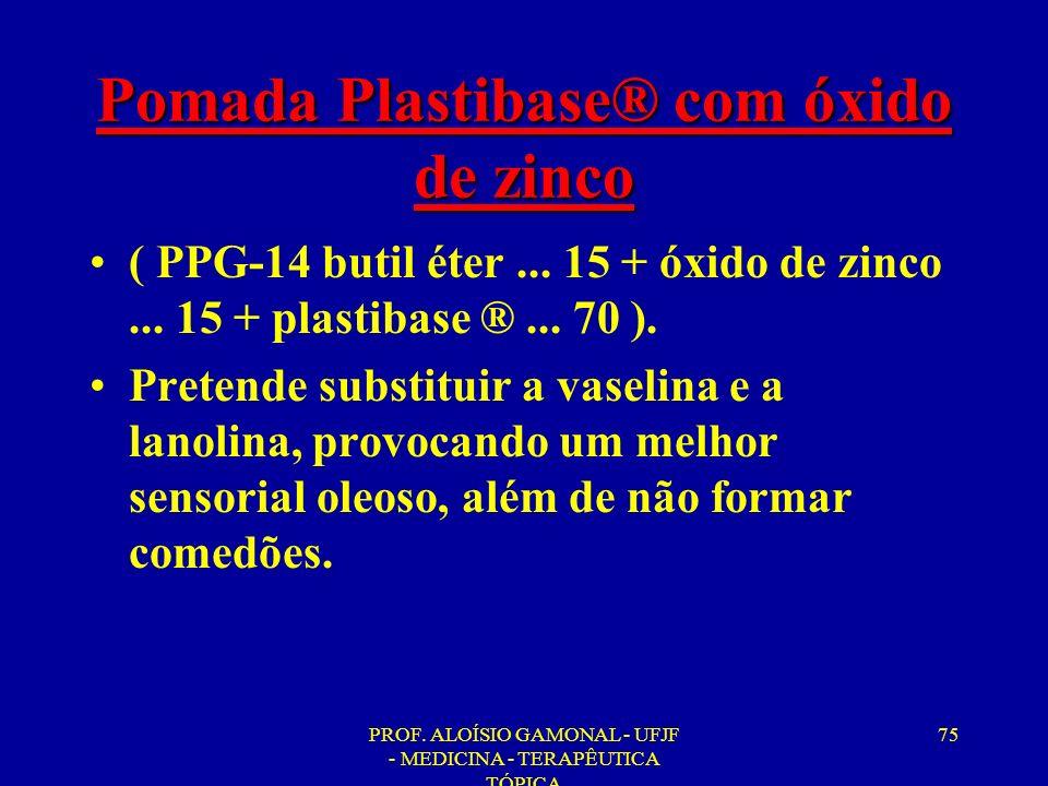 Pomada Plastibase® com óxido de zinco