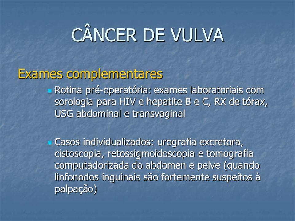 CÂNCER DE VULVA Exames complementares