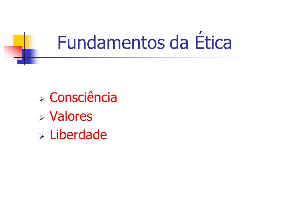 Fundamentos da Ética Consciência Valores Liberdade