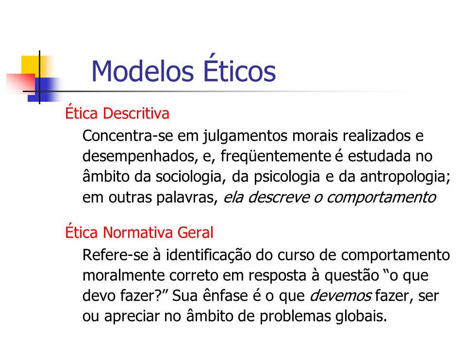 Modelos Éticos Ética Descritiva