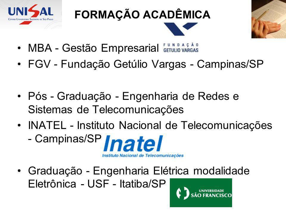 FORMAÇÃO ACADÊMICA MBA - Gestão Empresarial
