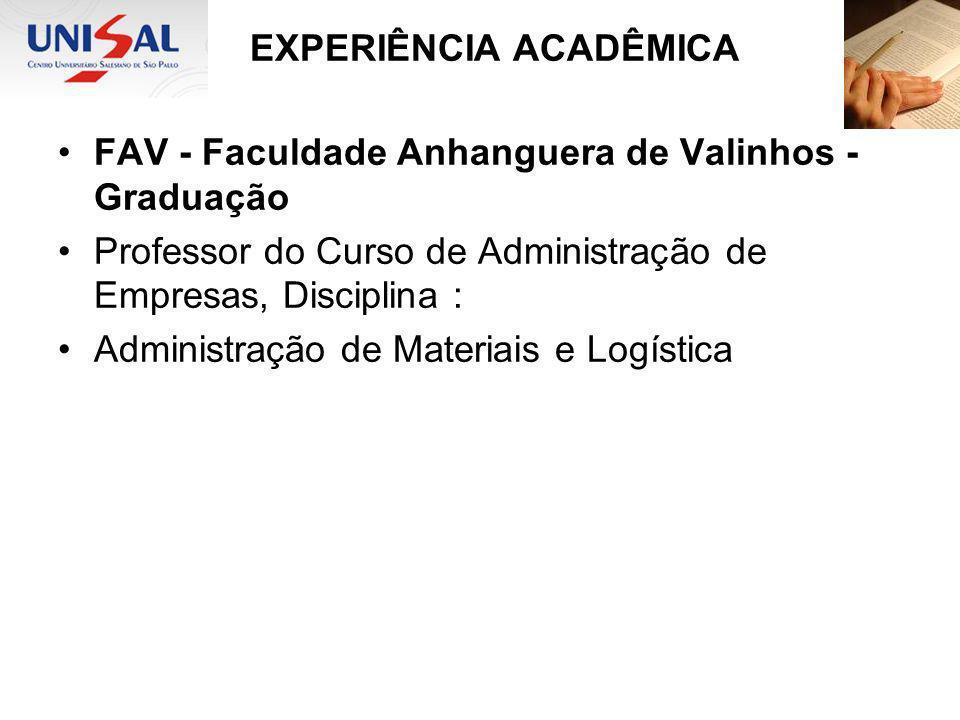 FAV - Faculdade Anhanguera de Valinhos - Graduação