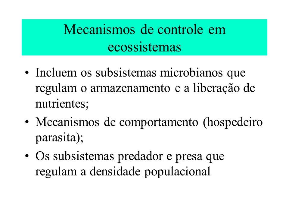 Mecanismos de controle em ecossistemas