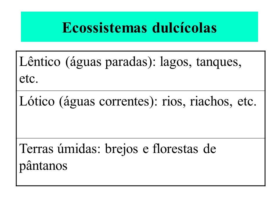 Ecossistemas dulcícolas