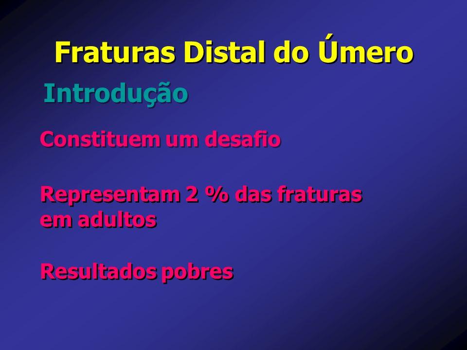 Fraturas Distal do Úmero