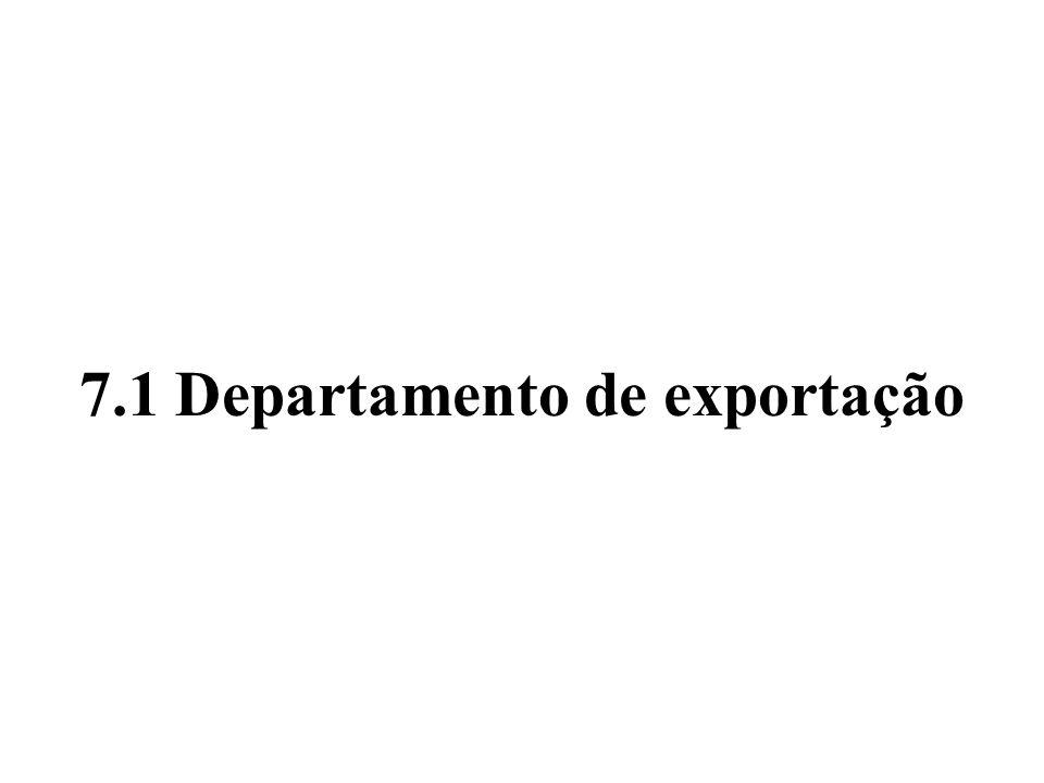 7.1 Departamento de exportação