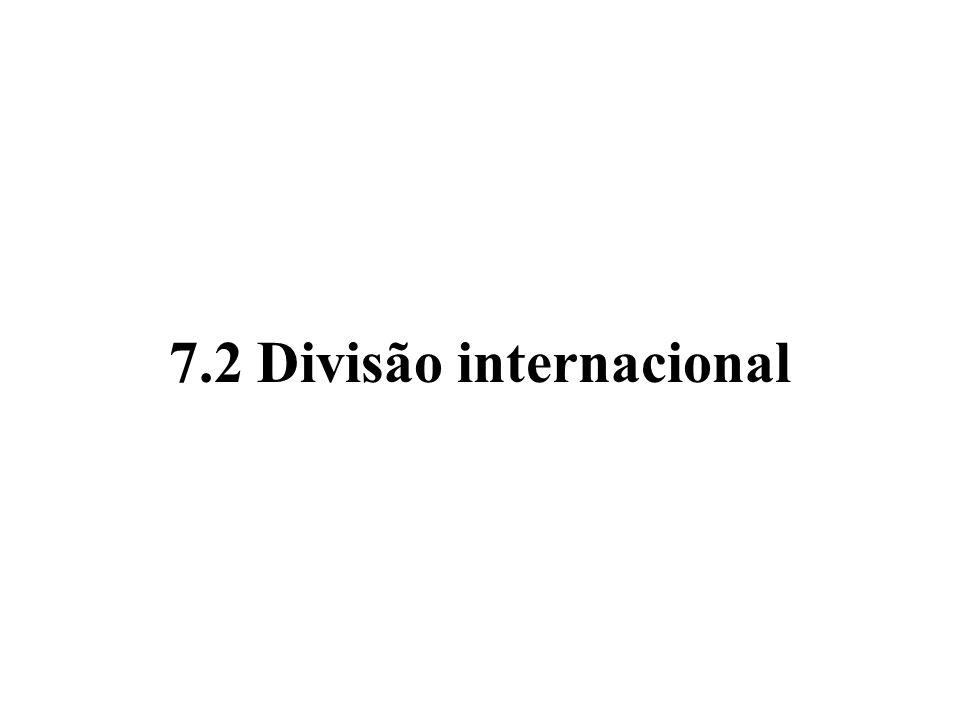 7.2 Divisão internacional