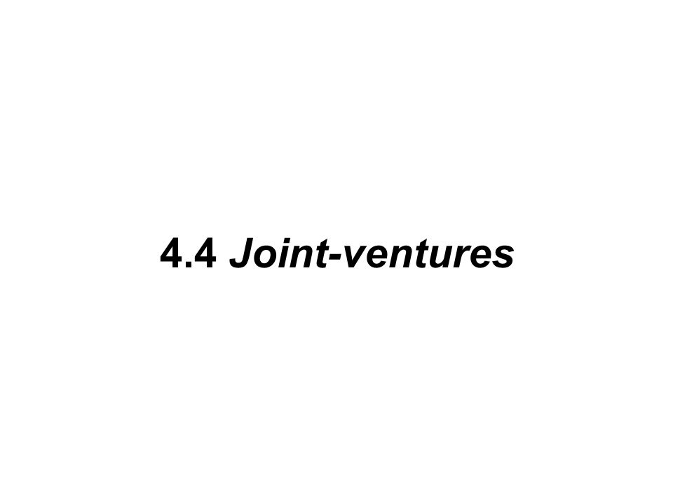4.4 Joint-ventures