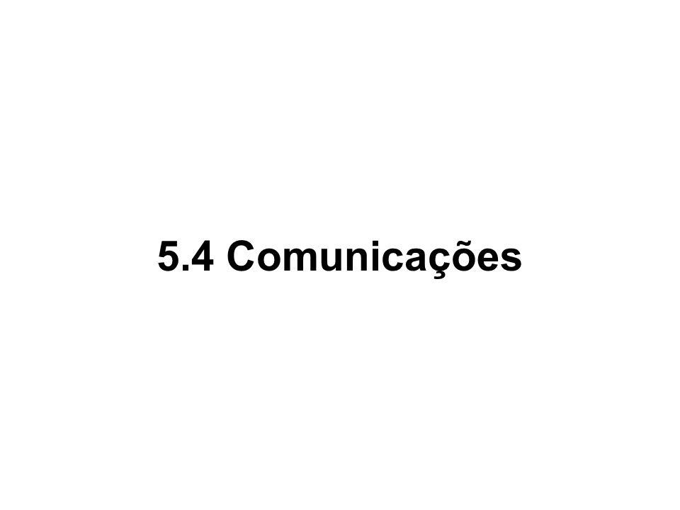 5.4 Comunicações