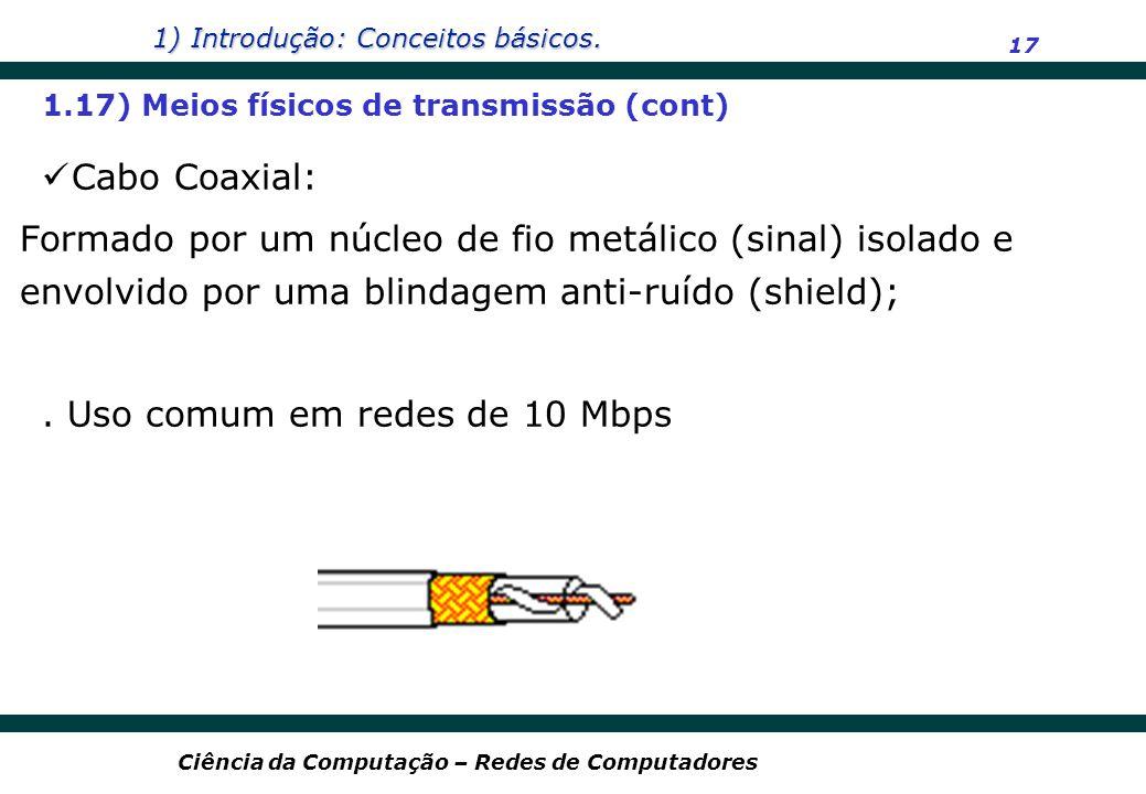 . Uso comum em redes de 10 Mbps