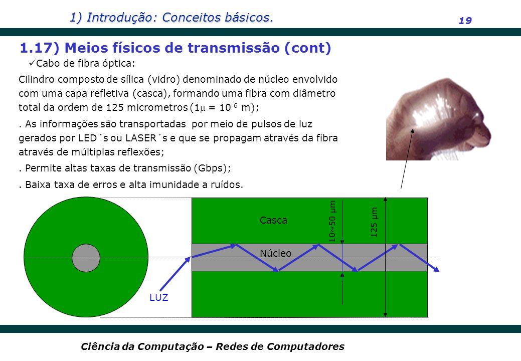 1.17) Meios físicos de transmissão (cont)