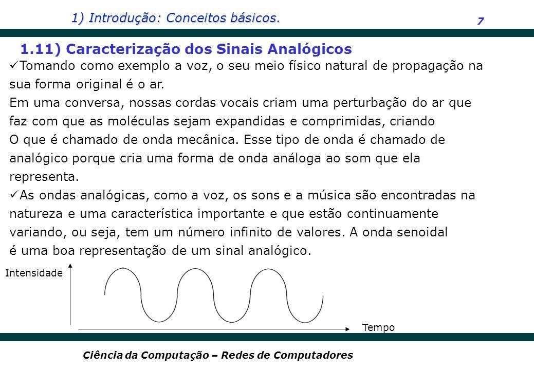 1.11) Caracterização dos Sinais Analógicos
