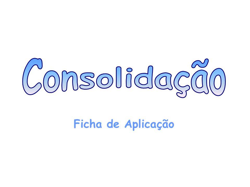 Consolidação Ficha de Aplicação