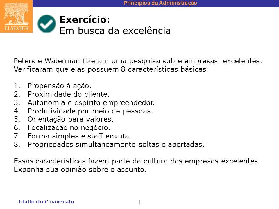 Exercício: Em busca da excelência