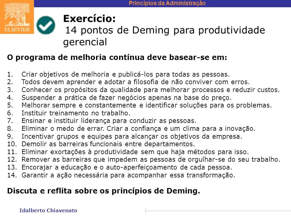 14 pontos de Deming para produtividade gerencial