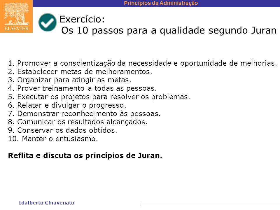 Os 10 passos para a qualidade segundo Juran