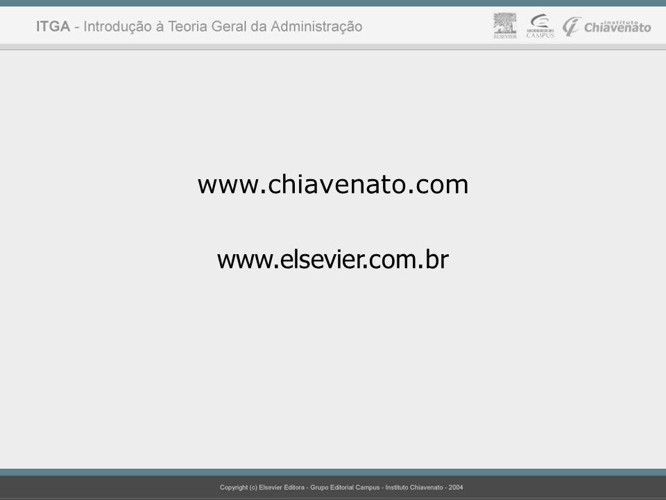 www.chiavenato.com www.elsevier.com.br Idalberto Chiavenato