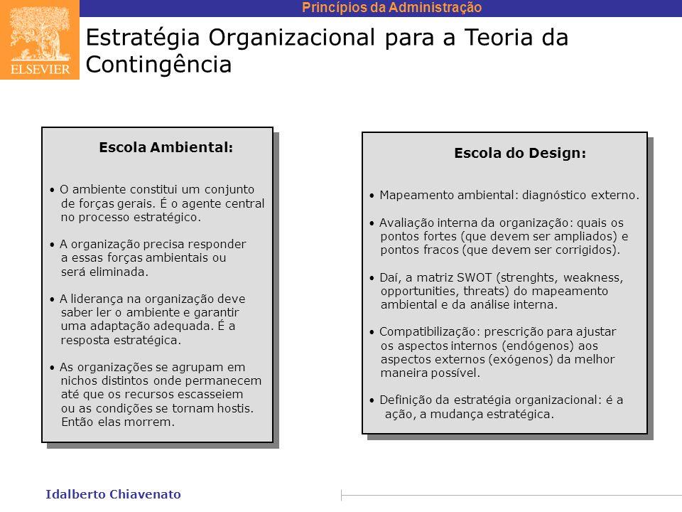 Estratégia Organizacional para a Teoria da Contingência