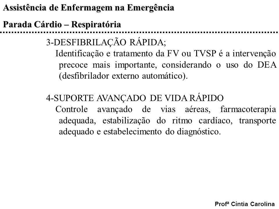 3-DESFIBRILAÇÃO RÁPIDA;