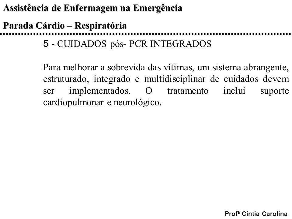5 - CUIDADOS pós- PCR INTEGRADOS