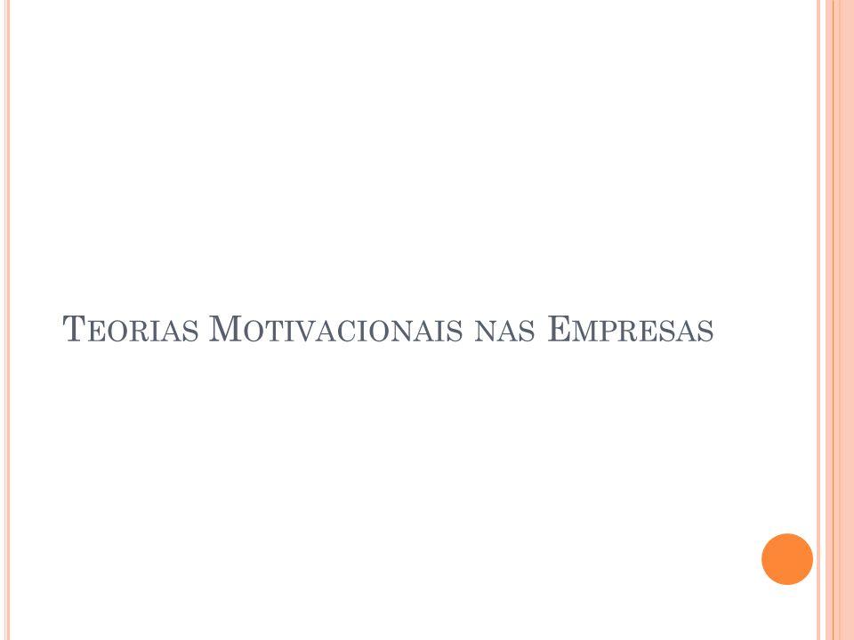 Teorias Motivacionais nas Empresas