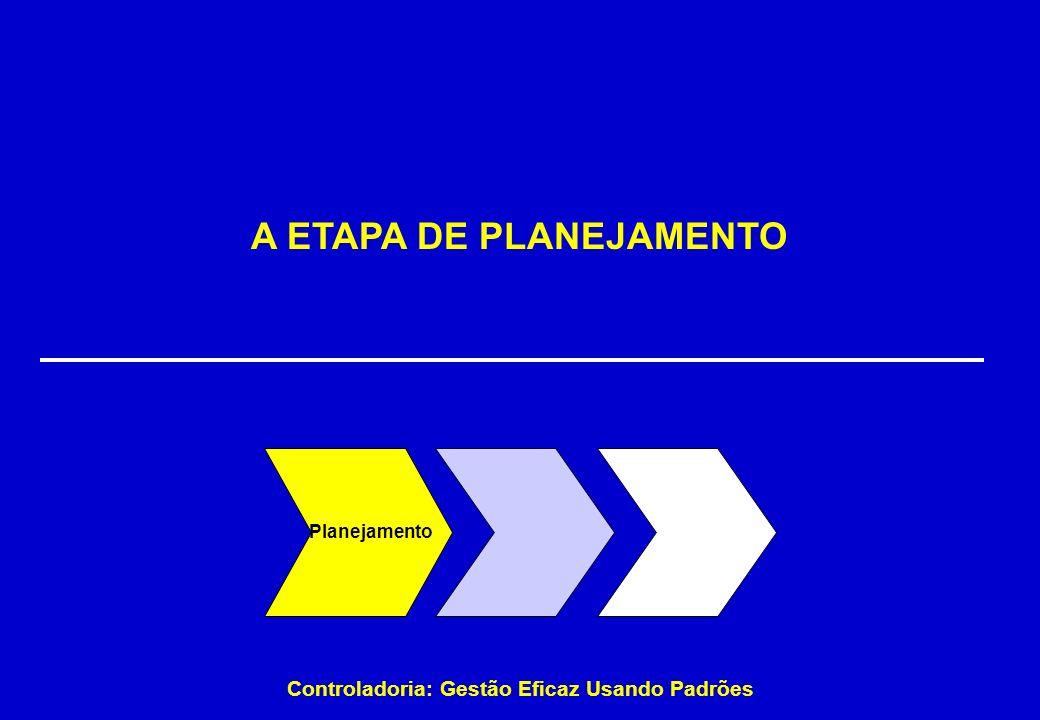 A ETAPA DE PLANEJAMENTO