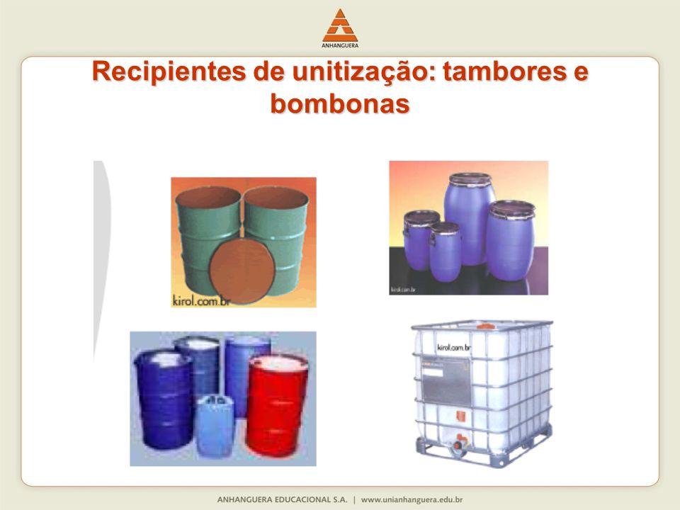 Recipientes de unitização: tambores e bombonas