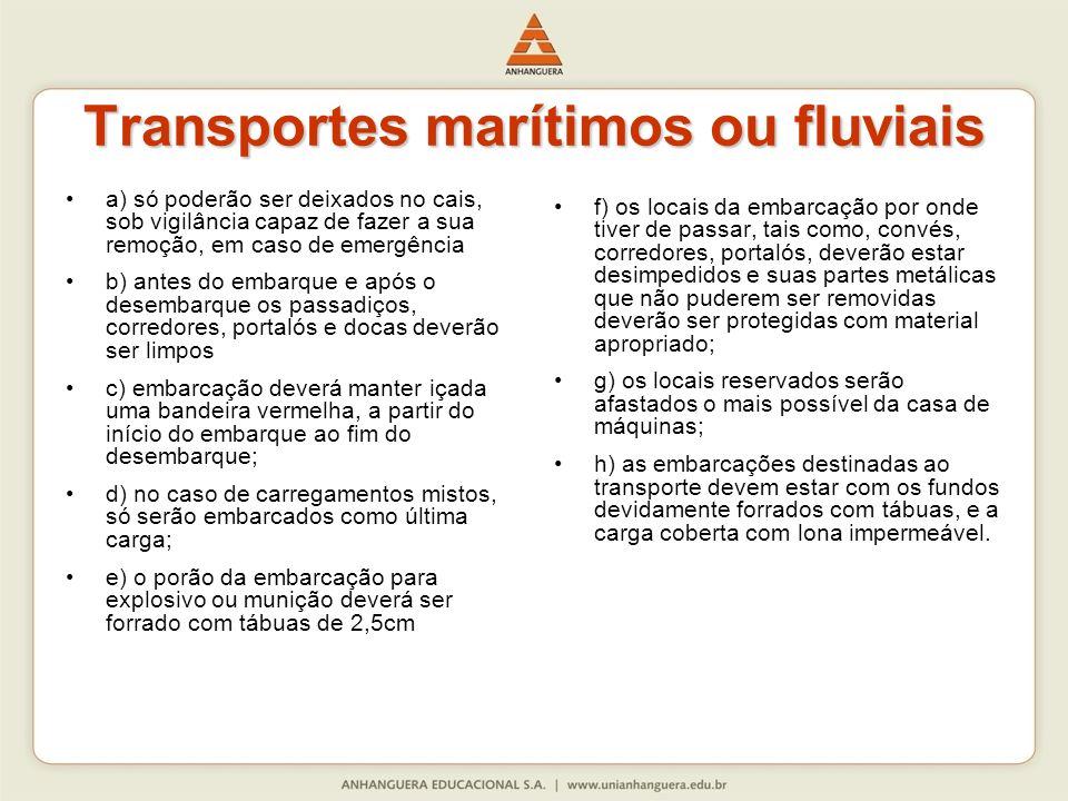 Transportes marítimos ou fluviais