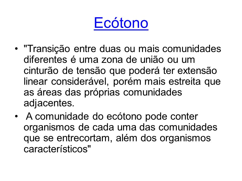 Ecótono