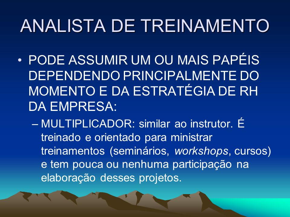 ANALISTA DE TREINAMENTO