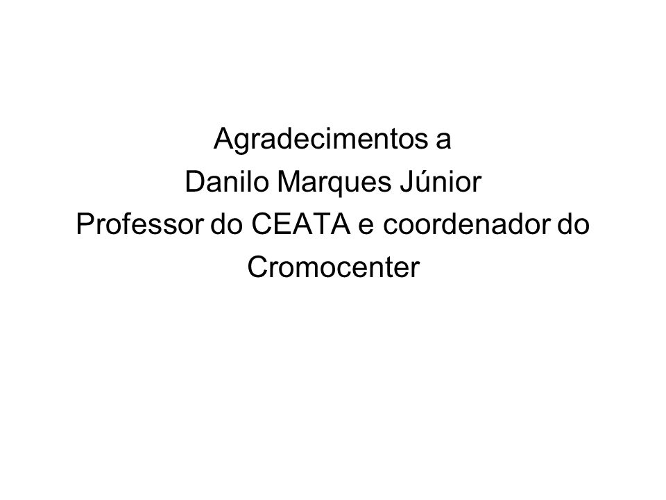 Professor do CEATA e coordenador do