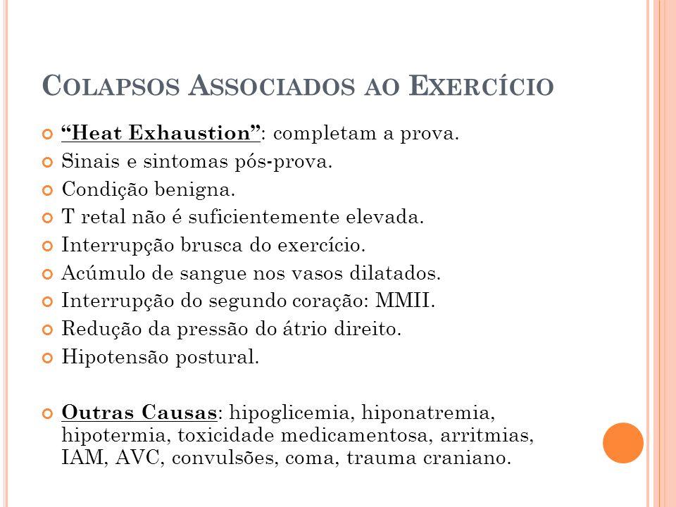 Colapsos Associados ao Exercício