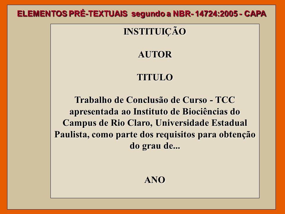 INSTITUIÇÃO AUTOR TITULO