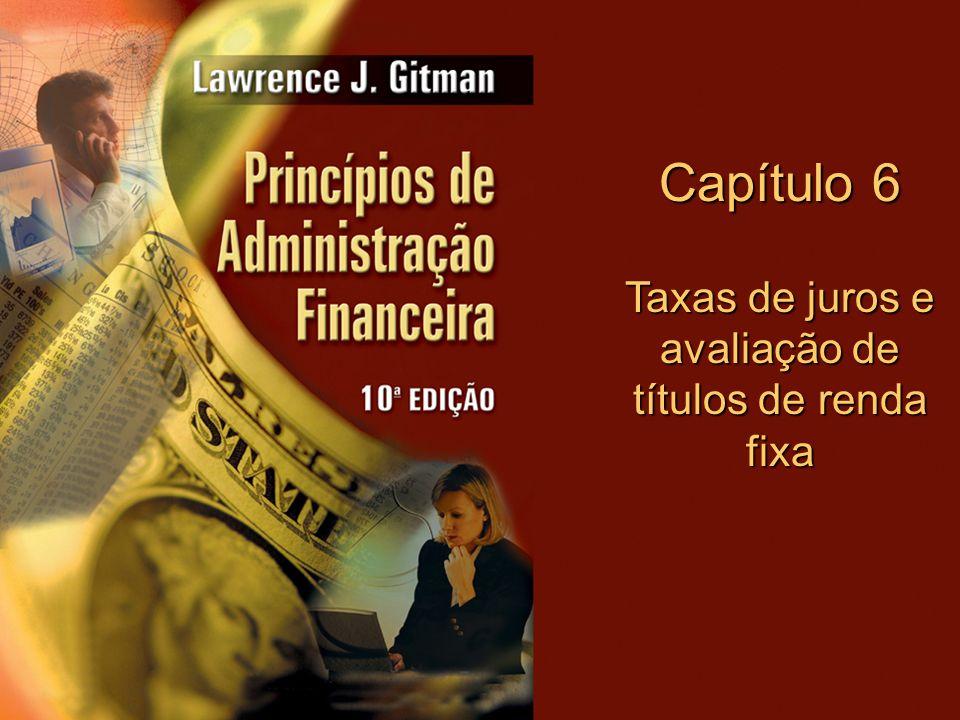 Taxas de juros e avaliação de títulos de renda fixa