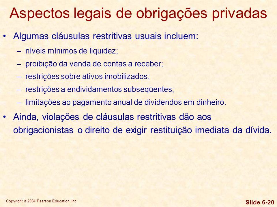 Aspectos legais de obrigações privadas