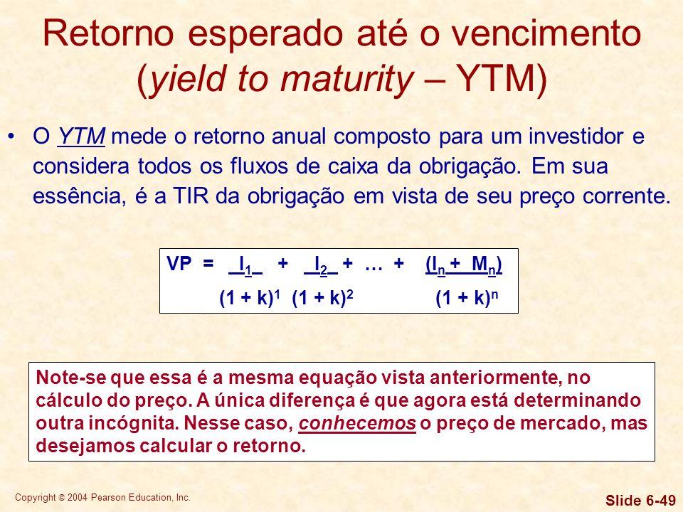 Retorno esperado até o vencimento (yield to maturity – YTM)
