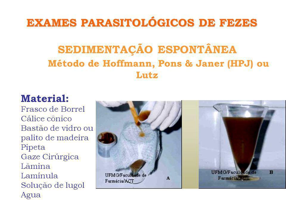 EXAMES PARASITOLÓGICOS DE FEZES