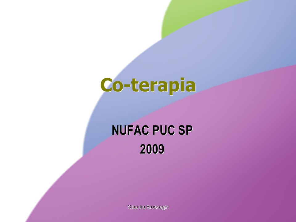 Co-terapia NUFAC PUC SP 2009 Claudia Bruscagin