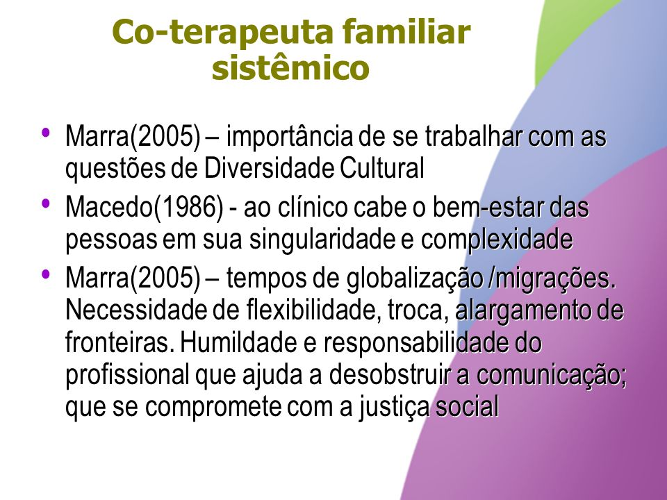 Co-terapeuta familiar sistêmico