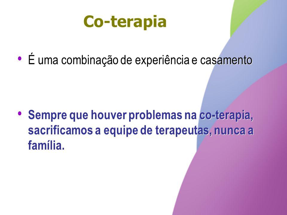 Co-terapia É uma combinação de experiência e casamento
