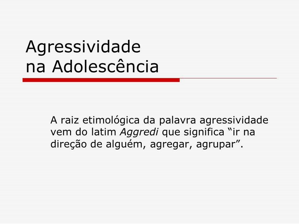 Agressividade na Adolescência