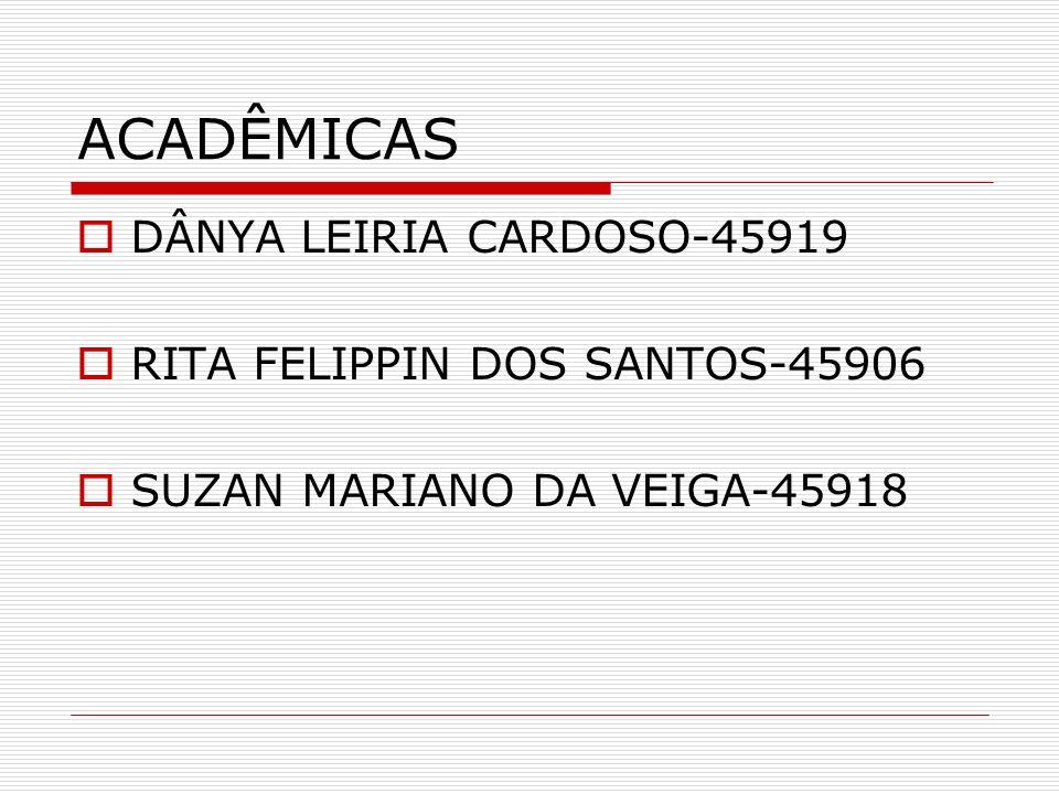 ACADÊMICAS DÂNYA LEIRIA CARDOSO-45919 RITA FELIPPIN DOS SANTOS-45906