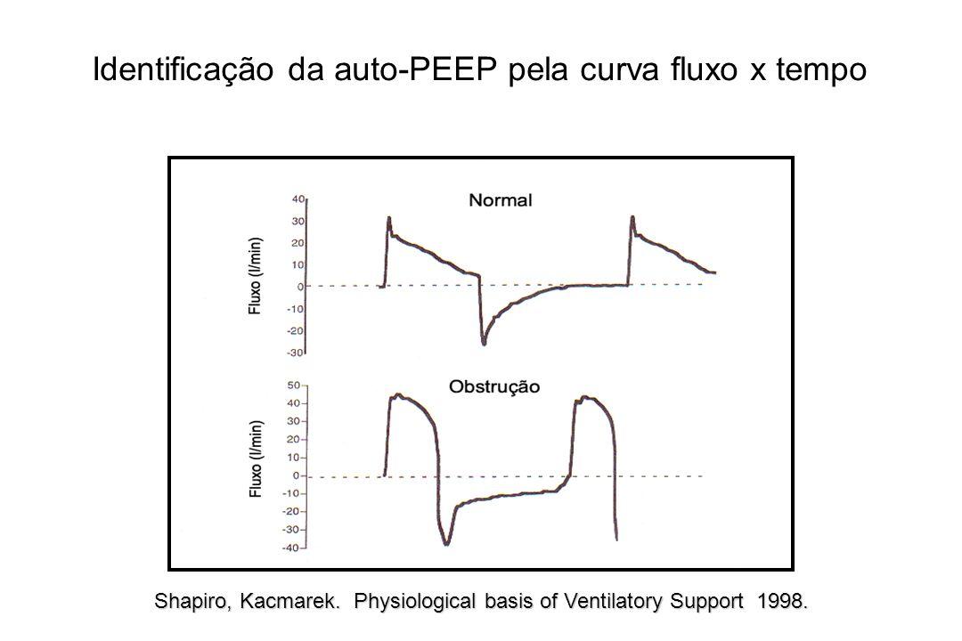 Identificação da auto-PEEP pela curva fluxo x tempo