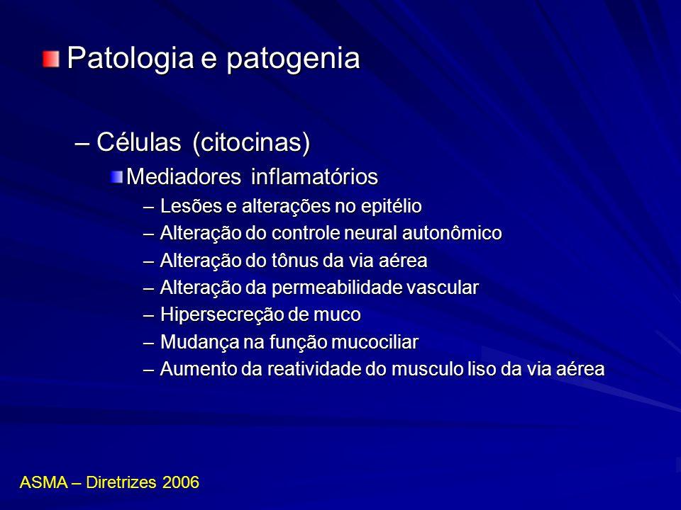 Patologia e patogenia Células (citocinas) Mediadores inflamatórios