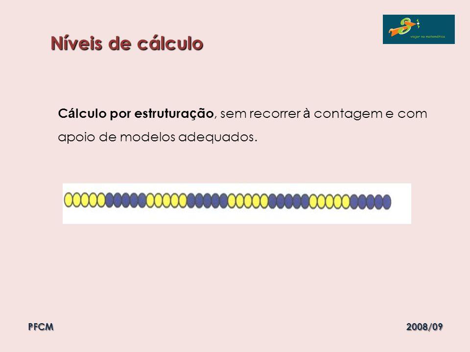 Níveis de cálculo Cálculo por estruturação, sem recorrer à contagem e com apoio de modelos adequados.