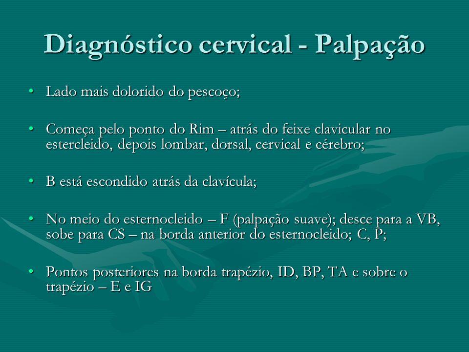 Diagnóstico cervical - Palpação